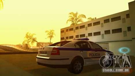 Skoda Octavia Albanian Police Car para GTA Vice City deixou vista