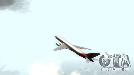 Boeing 777-280ER Asiana Airlines para GTA San Andreas traseira esquerda vista