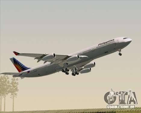 Airbus A340-313 Philippine Airlines para o motor de GTA San Andreas