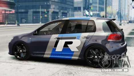 Volkswagen Golf R 2010 Polo WRC Style PJ2 para GTA 4 esquerda vista