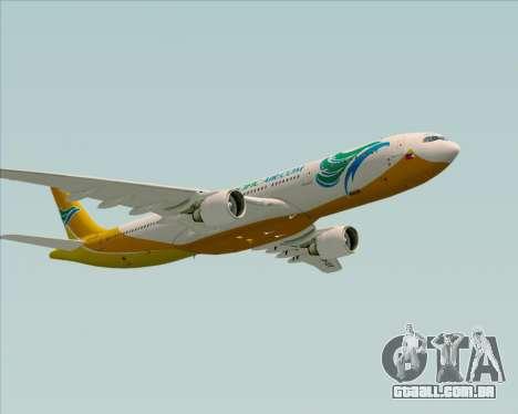Airbus A330-300 Cebu Pacific Air para GTA San Andreas vista inferior