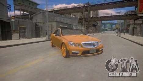 A Mercedes-Benz E63 AMG для GTA 4 para GTA 4 vista de volta