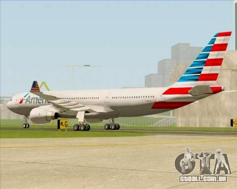 Airbus A330-200 American Airlines para GTA San Andreas vista direita