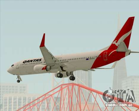 Boeing 737-838 Qantas para GTA San Andreas vista superior