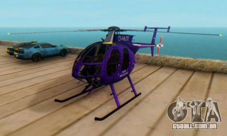 O MD500E helicóptero v1 para GTA San Andreas