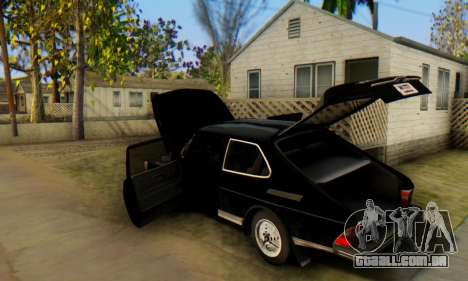 Saab 99 Turbo 1978 para vista lateral GTA San Andreas