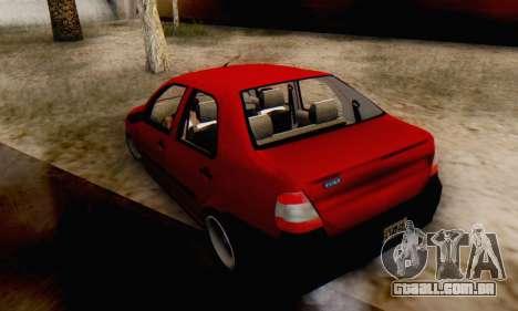 Fiat Siena 1998 para GTA San Andreas esquerda vista