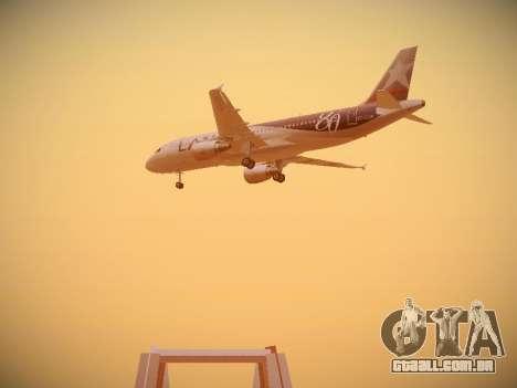 Airbus A320-214 LAN Airlines 80 Years para GTA San Andreas vista traseira