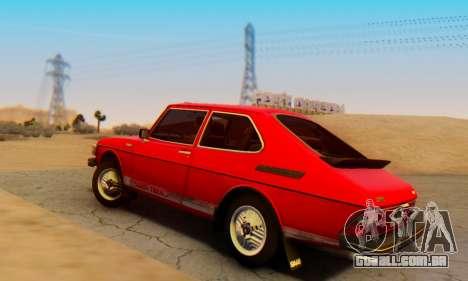 Saab 99 Turbo 1978 para GTA San Andreas esquerda vista