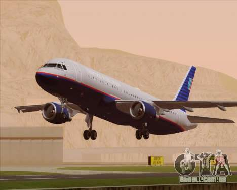 Airbus A320-232 United Airlines (Old Livery) para o motor de GTA San Andreas