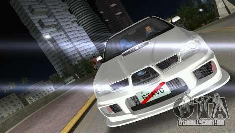 Subaru Impreza WRX STI 2006 Type 3 para GTA Vice City vista direita