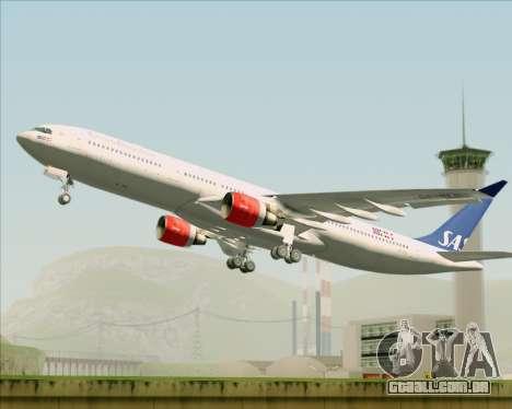 Airbus A330-300 Scandinavian Airlines System. para GTA San Andreas vista interior