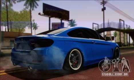BMW 435i Stance para GTA San Andreas esquerda vista