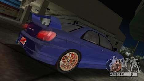 Subaru Impreza WRX 2002 Type 2 para GTA Vice City deixou vista