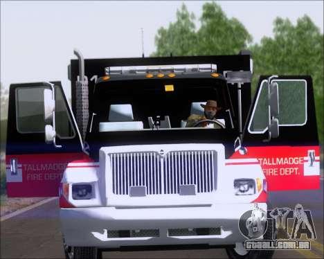 Pierce Commercial TFD Rescue 1 para GTA San Andreas vista direita