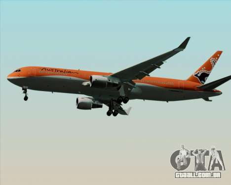 Boeing 767-300ER Australian Airlines para vista lateral GTA San Andreas