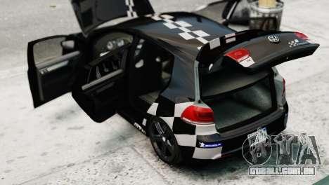 Volkswagen Golf R 2010 MTM Paintjob para GTA 4 vista de volta