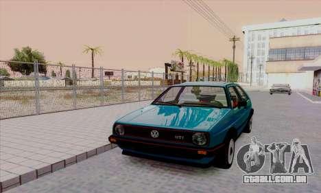 Volkswagen Golf 2 GTi para GTA San Andreas vista interior