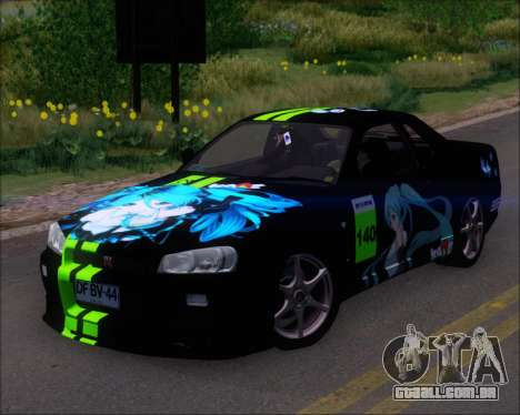 Nissan Skyline GT-R R34 V-Spec II para as rodas de GTA San Andreas