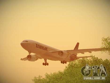 Airbus A330-200 Air Transat para o motor de GTA San Andreas