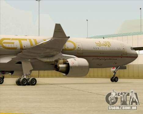 Airbus A330-300 Etihad Airways para vista lateral GTA San Andreas