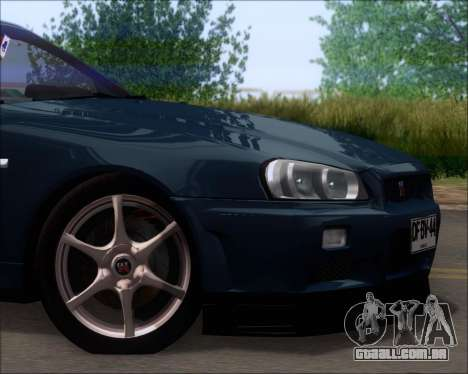 Nissan Skyline GT-R R34 V-Spec II para vista lateral GTA San Andreas