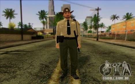 Polícia (GTA 5) Pele 1 para GTA San Andreas
