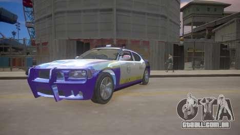 Dodge Charger Kuwait Police 2006 para GTA 4 esquerda vista