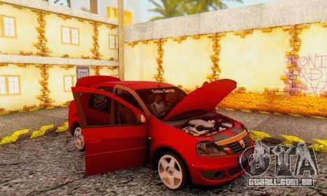 Dacia Logan Delta Garage para GTA San Andreas vista interior