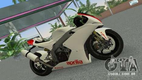 Aprilia RSV4 2009 Gray Edition para GTA Vice City deixou vista