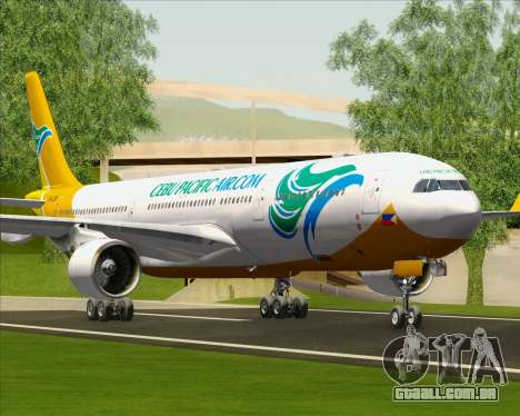 Airbus A330-300 Cebu Pacific Air para as rodas de GTA San Andreas