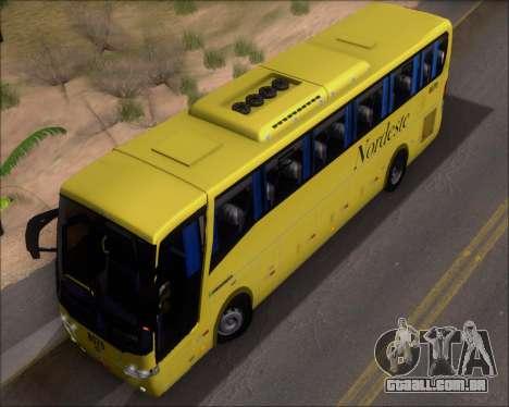 Busscar Elegance 360 Viacao Nordeste 8070 para vista lateral GTA San Andreas