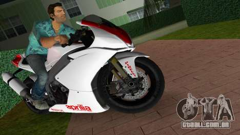 Aprilia RSV4 2009 White Edition I para GTA Vice City vista direita
