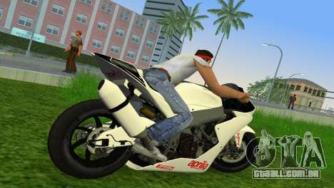 Aprilia RSV4 2009 White Edition II para GTA Vice City vista direita