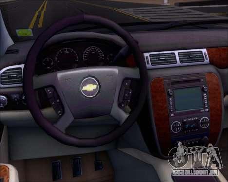 Chevrolet Silverado 2011 para GTA San Andreas vista inferior