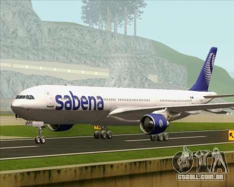 Airbus A330-300 Sabena para GTA San Andreas traseira esquerda vista