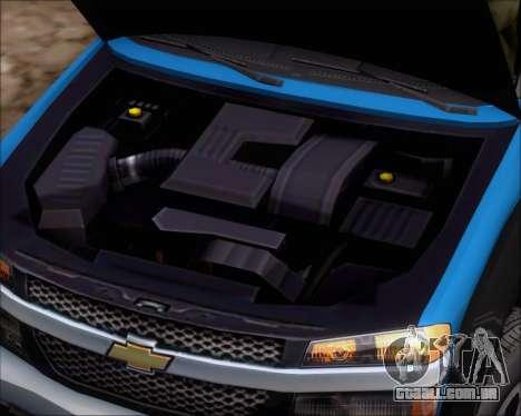 Chevrolet Colorado para GTA San Andreas vista traseira