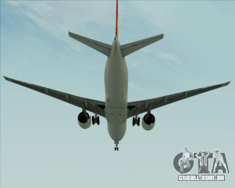 Boeing 777-200ER Air China para GTA San Andreas vista direita
