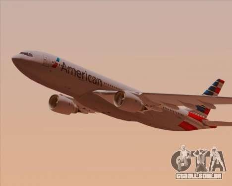 Airbus A330-200 American Airlines para GTA San Andreas interior