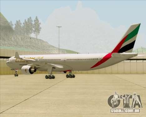Airbus A330-300 Emirates para GTA San Andreas vista direita