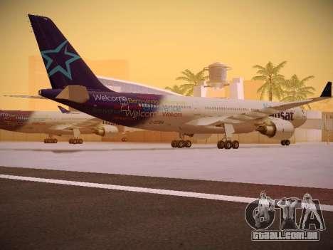 Airbus A330-200 Air Transat para GTA San Andreas vista direita
