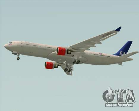 Airbus A330-300 Scandinavian Airlines System. para GTA San Andreas vista traseira