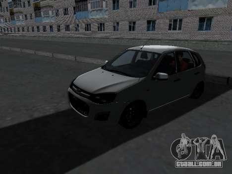 Lada Kalina 2 para GTA San Andreas esquerda vista