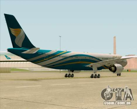 Airbus A330-300 Oman Air para GTA San Andreas vista interior