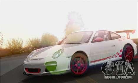 Porsche 911 GT3 2010 para GTA San Andreas traseira esquerda vista