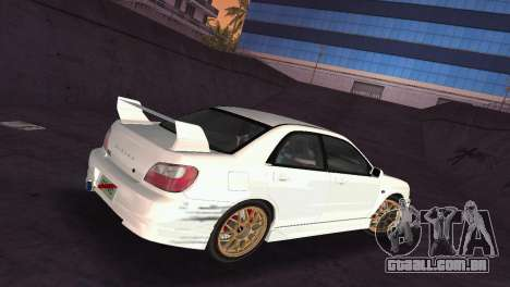 Subaru Impreza WRX 2002 Type 2 para GTA Vice City vista lateral
