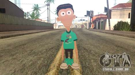 Sheen from Jimmy Neutron para GTA San Andreas