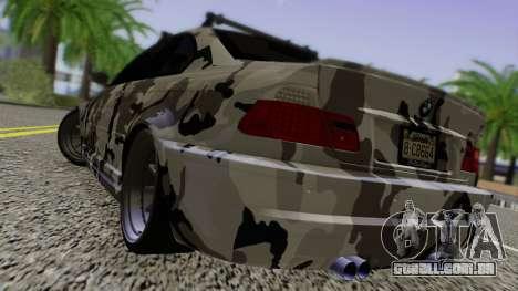 BMW M3 E46 Coupe 2005 Hellaflush v2.0 para GTA San Andreas traseira esquerda vista