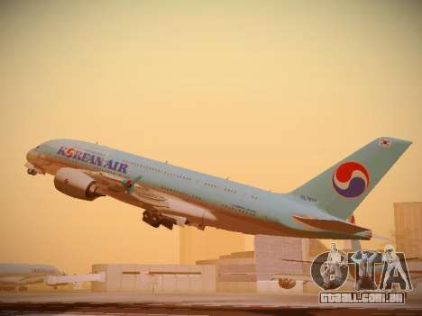 Airbus A380-800 Korean Air para GTA San Andreas vista direita