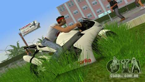 Aprilia RSV4 2009 White Edition II para GTA Vice City deixou vista
